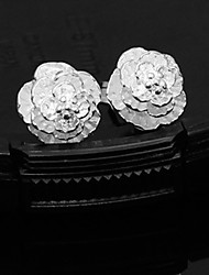 Earring 925 Sterling Silver Stud Earrings Jewelry Women Sterling Silver 2pcs Silver / White