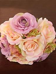 Elegant Fresh Rose Wedding Bridal Bouquets