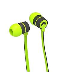 3,5 milímetros emaranhado livre de volume do fone de ouvido estéreo controlável de ouvido com microfone para iPhone e outros smartphones