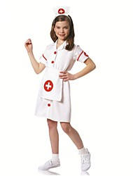 pequenos enfermeira cosplay crianças traje de Halloween
