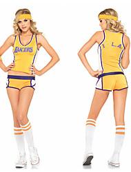 Uniforme sexy Polyester Fille jaune de basket-ball de bébé de majorette