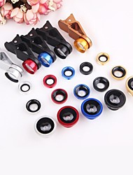 4 in 1 Wide Angle + Macro + 2X Teleconverter  Kit Fisheye Mobile Phone Lens