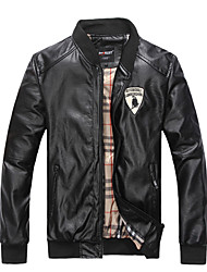 Men's Fashion Color Black Motorcycle Leather Jacket