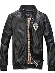 Men's Fashion Color Black Motorcycle Leather Jacket