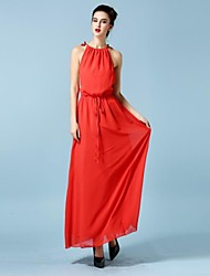 Women's Red Dress , Casual Sleeveless