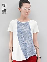 toyouth ® 2015 correspondance des couleurs d'impression assouplissement col rond t-shirt fille femmes