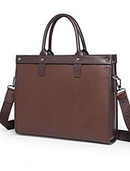 moda bolsa de ordenador portátil sólido maletín de cuero genuina de los hombres