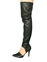 Women's Shoes   Pointed  Toe  Stiletto Heel Over  The  Knee Boots  with Zipper More Colors available