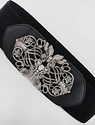 Women Leather Wide Belt,Casual Alloy All Seasons