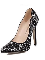 scarpe da donna pompe punta aguzza stiletto tacco pile scarpe