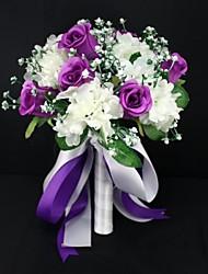 mariage élégant jolie satin rose bouquets de mariée (plus de couleurs)