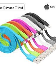 Yellowknife IFM raio de 8 pinos de sincronização de dados carregador cabo usb cores sortidas certificado para iphone6 6plus 5s 5c 5 (100cm)