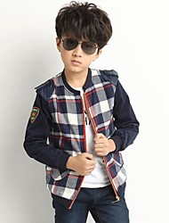 Boy's Cotton Blend Jacket & Coat , Spring/Fall Long Sleeve