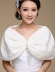 Fashion Imitation Rabbit Hair Pearl Warm Wedding Wraps (Free Size) Bolero Shrug
