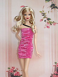 Princess Costumes For Barbie Doll Red Dresses For Girl's Doll Toy