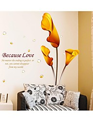 Wall Stickers Wall Decals, Style Calla Lily PVC Wall Stickers