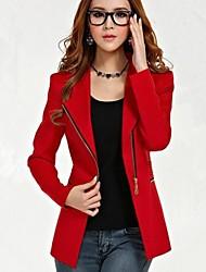 Women's Ladies Spring New Polo Zipper Slim Blazer Outwear