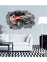 3d Stickers muraux stickers muraux, automobile collision murs de style mur de pvc autocollants