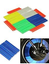 WEST BIKING® 12 PCS Reflective Circle MTB Bicycle Bike Spokes Steel Wire Anchoring Stripe Warning Strips Cycling Spokes