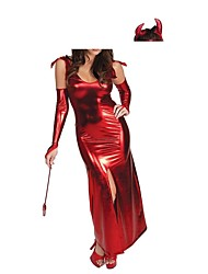 nuovo rosso diavolo poliestere donne cosplay strega halloween costumes m.xl