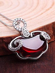 925 Серебряный кулон драгоценный камень установка женщинам Серебряный кулон камень