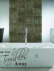 Ванная комната наклейка наклейки наклейки для стен, смочите бесперебойную ванной комнаты PVC стикер