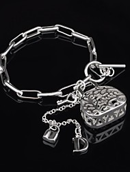 Women's Fashion Hollow Out Handbag Silver Plated Bracelet