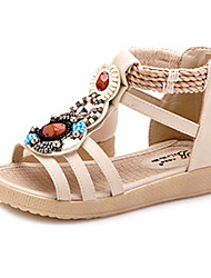 Sandales ( Rose/Beige ) - Cuir - Confort/Bout rond