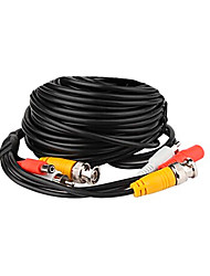 Black 50ft Feet(15M) Audio Video Power CCTV Security Camera Cable