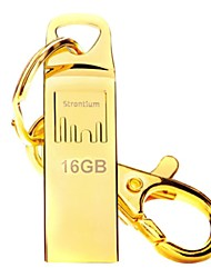 Strontium Gold Plated USB Flash Drive 16GB with Metal Key Chain