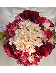 "Wedding Flowers Free-form Roses Bouquets Wedding / Party/ Evening Satin 9.45""(Approx.24cm)"