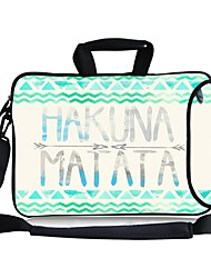 """Elonbo Hakuna Matata Carrying Handle & Removable Shoulder Strap Laptop Bag with Extra Side Pocket for 13"""" Macboob pro HP"""