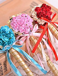 Gold Wedding Pen With Heart Ball-flower (More Colors,19*1.5*6cm)