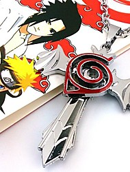 Schmuck Inspiriert von Naruto Cosplay Anime Cosplay Accessoires Halsketten Rot / Silber Legierung Mann