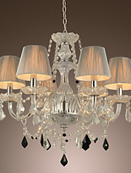 Chandelier Crystal Luxury Modern 1 Tiers Living 6 Lights