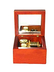 Wind-up Wooden Musical Box with Gold Movement in,Play Lilium from Elfen Lied Song