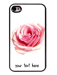 Personalized Case Rose Design Metal Case for iPhone 4/4S
