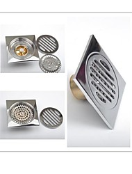 Contemporary Brass Bathroom Accessories Floor Drain