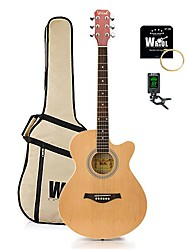 Spruce Student Acoustic Guitar Cutway with Assorted Colours+Accessory Pack