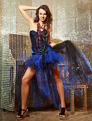 Клубная одежда женские лидер певец бальных танцевальная одежда платье DS