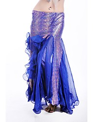 Belly Dance Stage Performance Chiffon Fishtail Wrapped Skirt(More Colors)