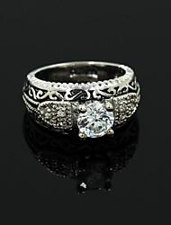 Women's Silver Alloy Rhinest Rings