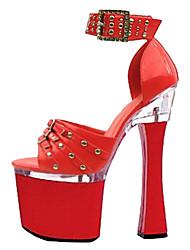 Damenschuhe Plattform Spool Heel Sandaletten Schuhe