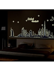 Wall Stickers Wall Decals, Style Dubai Silhouette PVC Wall Stickers