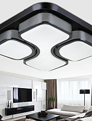 24W LED Black Iron Art Ceiling Light