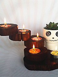 Thailand Multilayer Rotary Wooden Candle Holder