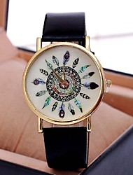 Women's Watch Vintage Peacock Feathers Quartz PU Band(Assorted Colors) Cool Watches Unique Watches Fashion Watch