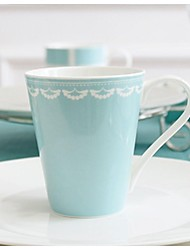 "Tiffany  Creative The Wedding Gift Cup  Milk Cup Coffee Cup Spoon Cup  Coffee  Bone China 3.4""*3.4""*3.9"""