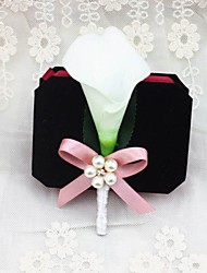 Wedding Flowers Boutonnieres Wedding Party/ Evening Satin