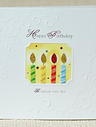 Color Candles Mini Birthday Greeting Card